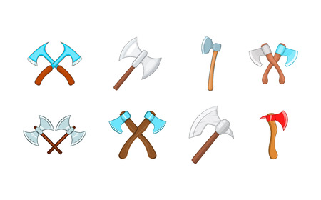 Axe icon set. Cartoon set of axe vector icons for your web design isolated on white background Illustration