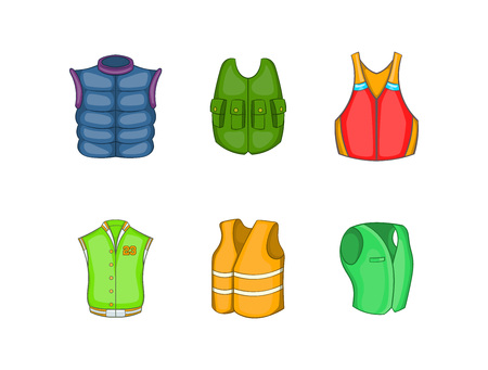 Vest icon set. Cartoon set of vest vector icons for your web design isolated on white background