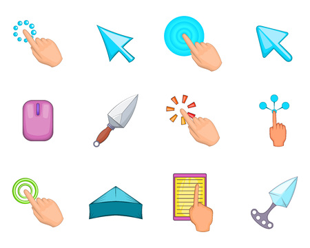 Cursor icon set. Cartoon set of cursor vector icons for your web design isolated on white background