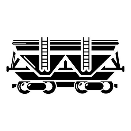 Wagon icon. Simple illustration of wagon vector icon for web