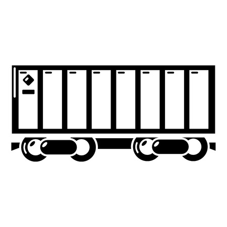 Freight train icon. Simple illustration of freight train vector icon for web
