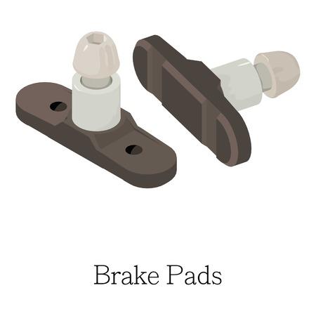Brake pad icon. Isometric illustration of brake pad vector icon for web Illusztráció