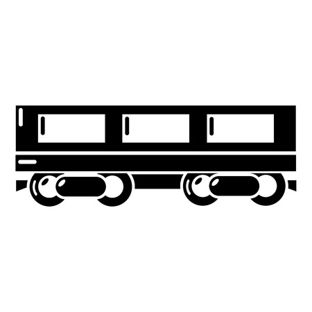 Passenger carriage icon. Simple illustration of passenger carriage vector icon for web Illustration