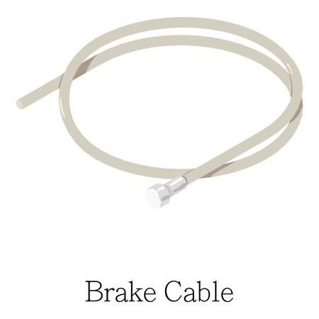 ブレーキ ケーブルのアイコン。Web のブレーキ ケーブル ベクトル アイコンのアイソメ図