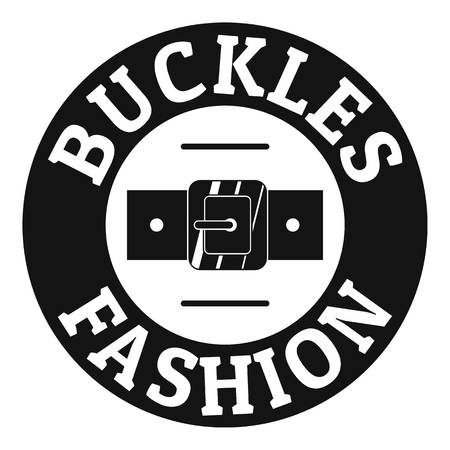 Buckle fashion logo. Simple illustration of buckle fashion vector logo for web