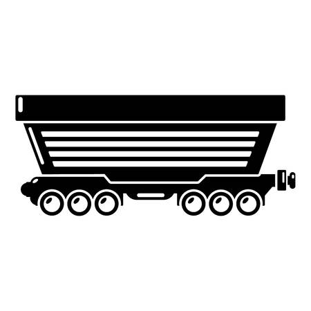 Freight car icon. Simple illustration of freight car vector icon for web Illustration