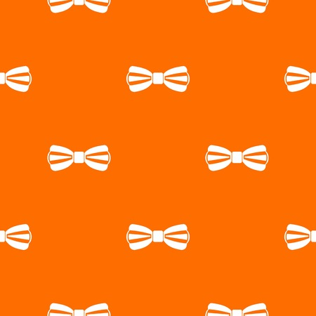 Bow tie pattern repeat seamless in orange color for any design. Vector geometric illustration