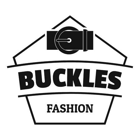 Buckle clothing logo. Simple illustration of buckle clothing vector logo for web