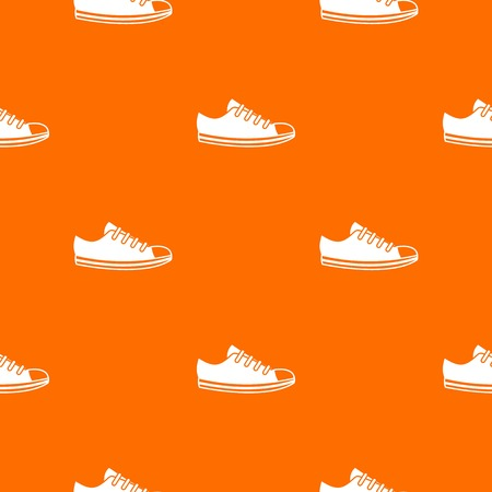 Canvas sneaker pattern repeat seamless in orange color for any design. Vector geometric illustration