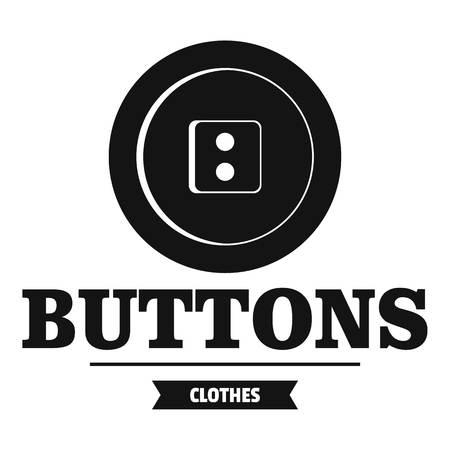 Clothes button textile logo. Simple illustration of clothes button textile vector logo for web