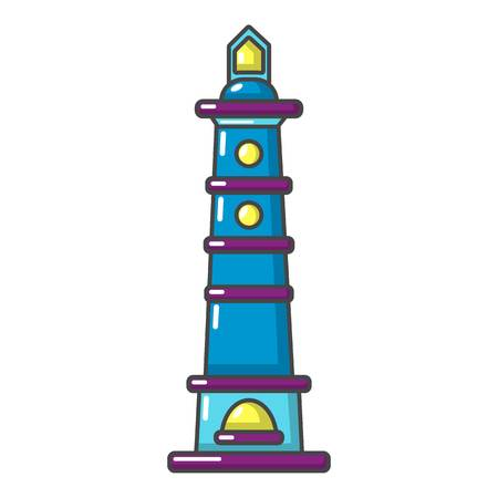 Navigate tower icon. Cartoon illustration of navigate tower vector icon for web 일러스트