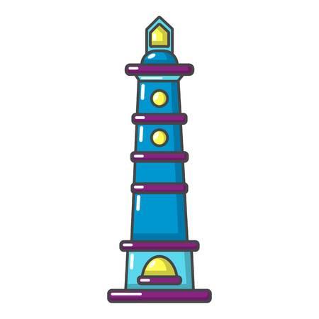 Navigate tower icon. Cartoon illustration of navigate tower vector icon for web Ilustrace