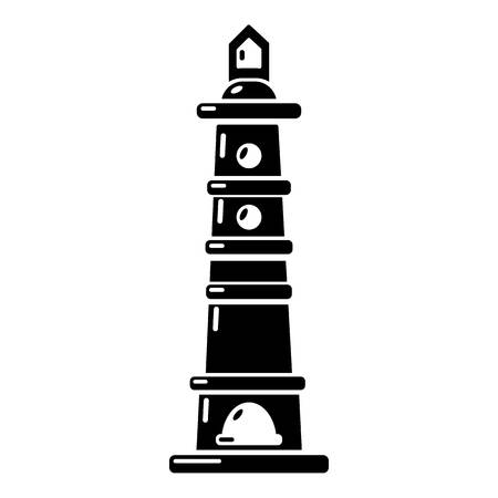 Navigate tower icon. Simple illustration of navigate tower vector icon for web