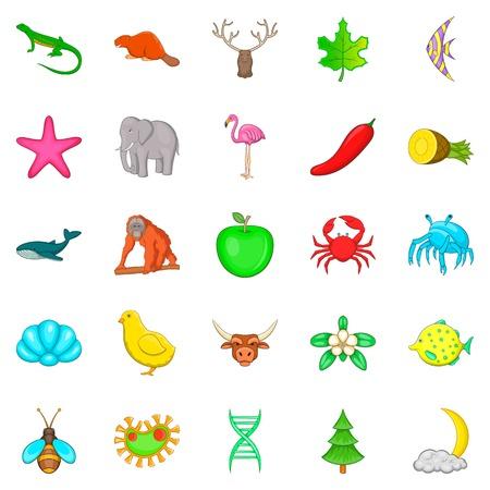 Maintain the wildlife icons set. Cartoon set of 25 maintain the wildlife vector icons for web isolated on white background 向量圖像