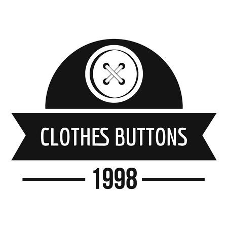 Clothes button design logo. Simple illustration of clothes button design vector logo for web