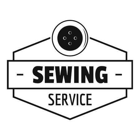 Sewing service logo. Simple illustration of sewing service vector logo for web
