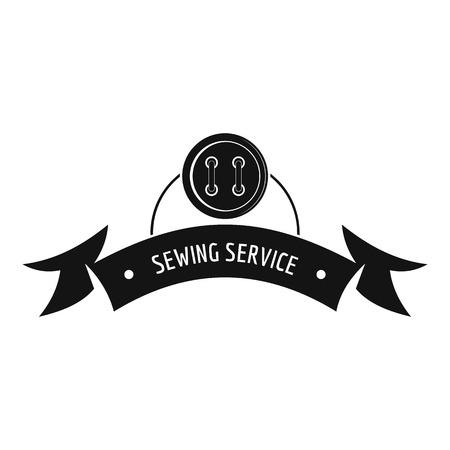 Clothes button round logo. Simple illustration of clothes button round vector logo for web