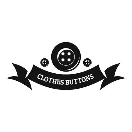 Clothes button fabric icon, simple black style