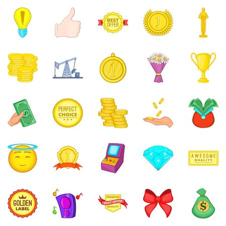 Winning success icons set for web isolated on white background Illustration