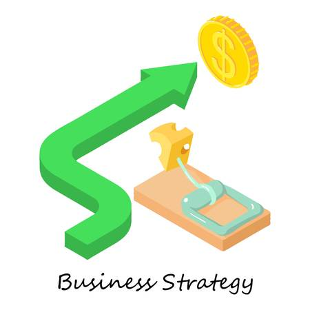 Business strategy icon. Isometric illustration of business strategy vector icon for web.