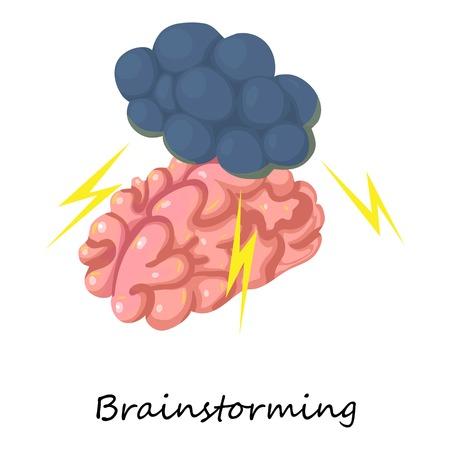 Brainstorming icon. Isometric illustration of brainstorming vector icon for web Illustration