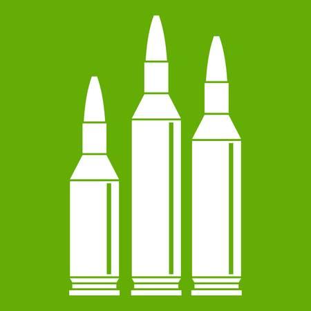 Bullet ammunition icon green