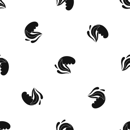 Surf wave pattern repeat seamless in black color for any design. Vector geometric illustration
