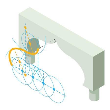 Arch design icon. Isometric illustration of arch design vector icon for web Illustration