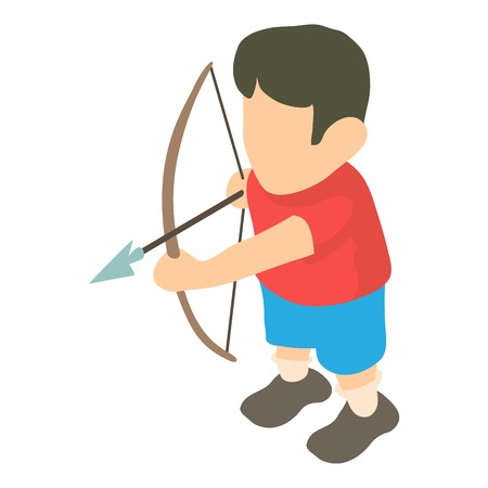 Archer icon. Isometric illustration of archer vector icon for web Illustration