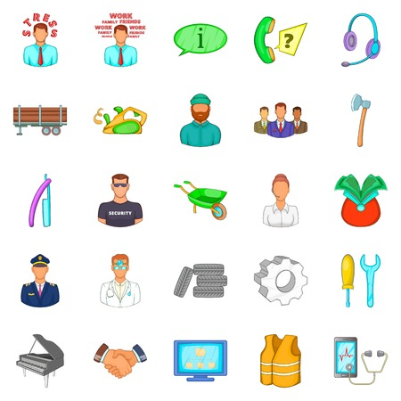 Profitable proposition icons set, cartoon style Illustration