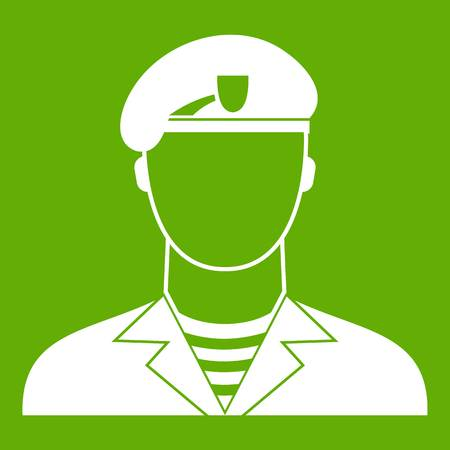 Modern army soldier icon green Illustration