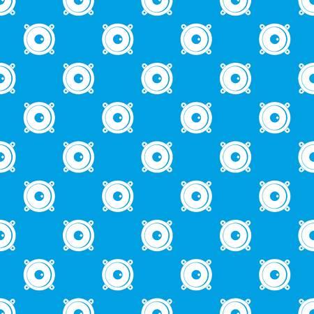 Speaker pattern in blue color illustration.