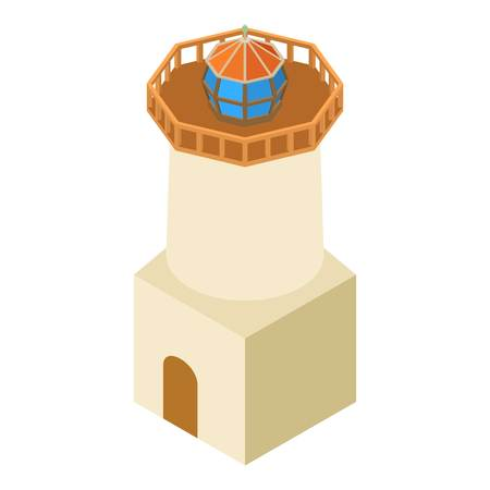 Isometric illustration of lighthouse architecture vector icon for web Illustration