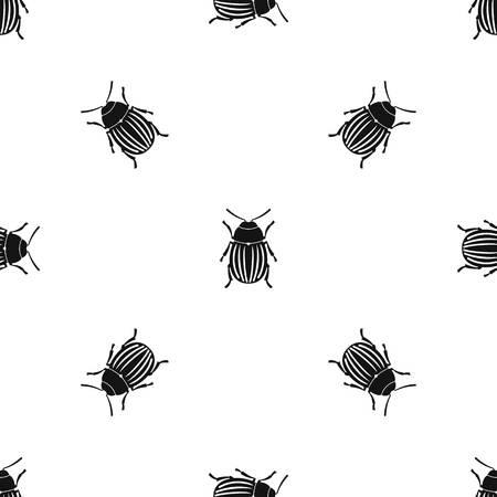 Modèle de dendroctone du dendroctone du Colorado sans soudure noir Banque d'images - 91177132