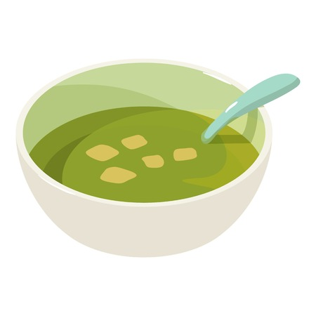 Soup icon, isometric 3d style