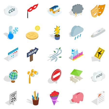 Individual icons set, isometric style