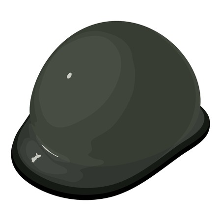 Helmet equestrian icon. Illustration