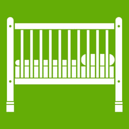 Baby bed icon. Illustration