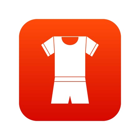 Sport shirt and shorts icon digital red