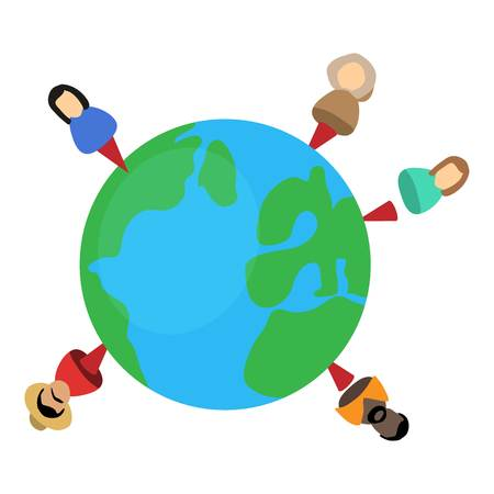People planet icon.