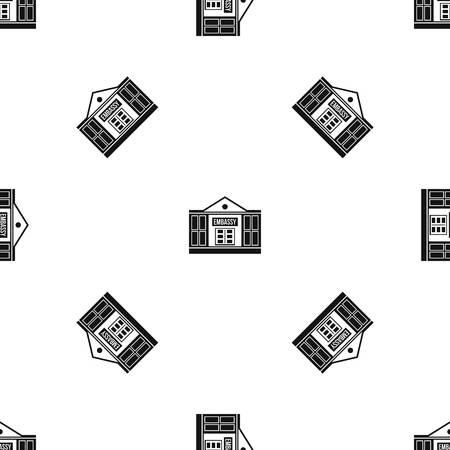 Embassy pattern seamless black