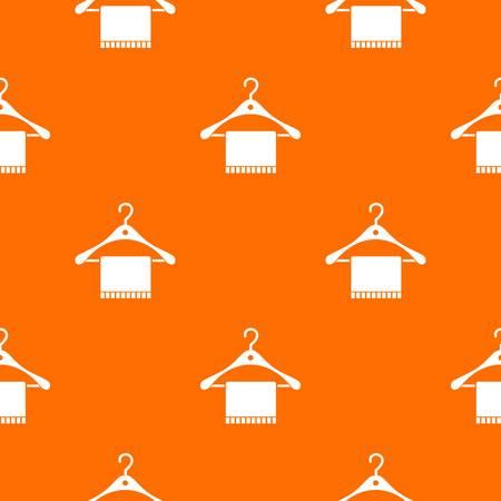 Scarf on hanger seamless pattern. Illustration