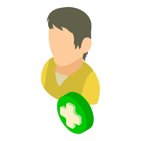 Add user icon. Isometric illustration of add vector icon for web