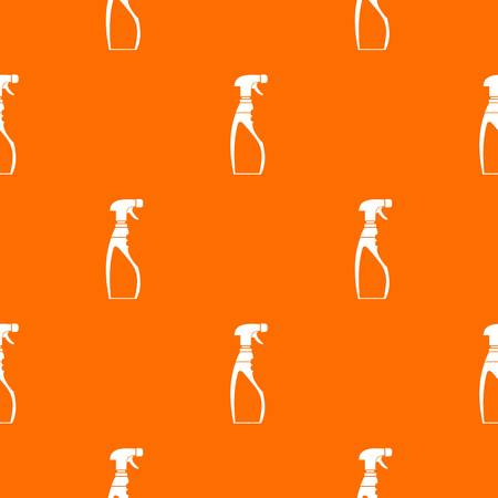 Sprayer bottle pattern repeat seamless in orange color for any design. Vector geometric illustration