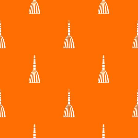 Broom floor pattern repeat seamless in orange color for any design. Vector geometric illustration Illustration