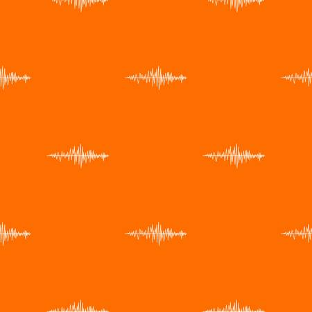 Sound wave pattern repeat seamless in orange color for any design. Vector geometric illustration