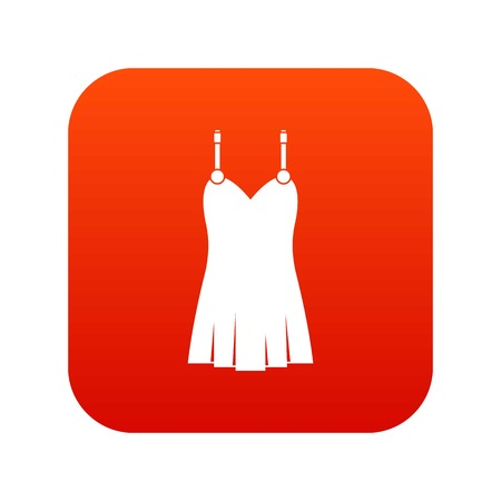 Nightdress icon digital red Illustration