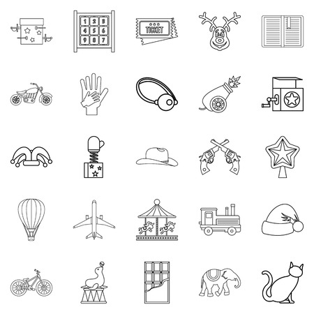 Shirttail icons set. Outline set of 25 shirttail vector icons for web isolated on white background Illustration