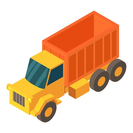 Truck cargo icon. Isometric illustration of truck cargo vector icon for web