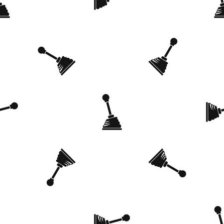 Gear stick pattern repeat seamless in black color for any design. Vector geometric illustration